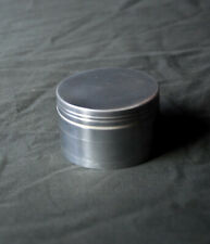 Small Travel Size Herbal Tobacco Grinder 42MM Crusher Plain Silver