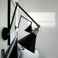 Swing Arm Wall Lamp Indoor Wall Lights Kitchen Black Wall Lighting Wall Sconce