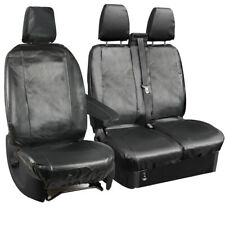 FORD TRANSIT 2.2 TDCI 2006-2012 DELUXE RED RACING VAN SEAT COVERS 2+1