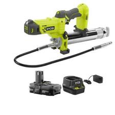 RYOBI Grease Gun Kit 18-Volt Lithium-Ion Cordless Battery Charger Included