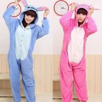 Unisex Adult Kigurumi Pajamas Anime Cosplay Costume Onesi2 Sleepwear Stitch