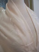 Sheer Elegant Designer Fabric Champagne Shimmery Chiffon Delicate Self Designs
