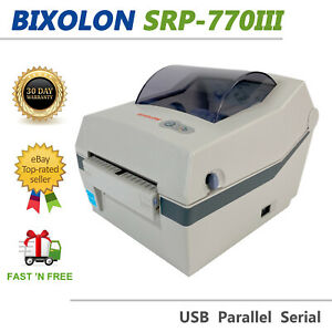 Bixolon SRP-770III Compact Direct Thermal Barcode Printer USB Parallel Serial