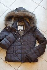 Abercrombie And Fitch Authentic Vintage Brown Puffer Bomber Jacket Hood Junior S