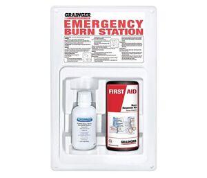 Burn Care Station, Grainger, Plastic White 54605 Response Burn Kit, NEW in BOX