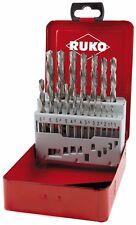 RUKO 19pcs. Left Hand Drill Bits Set, HSS-G, 1,0 - 10,0mm in increments of 0,5mm