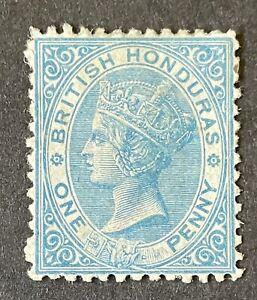 British Honduras 1865. 1d Blue (MH)