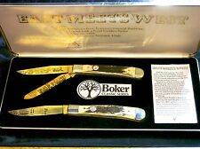 Boker 1969 Gold Plated Stag Trappers Limited Edition #447 Promontory Summit Utah