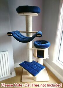 Handmade NAVY BLUE Removable Cat Bed Replacement Pet Set for Natural Paradise XL