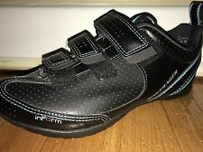 "BONTRAGER INFORM ""STREET"" CLIPLESS CYCLING SHOES WOMENS SIZE 5.5 BLACK/TEAL"