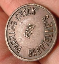 Vintage Gabrielle's Combo Token / Trade and parking Check  token
