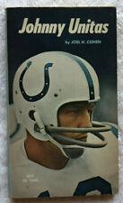 Johnny Unitas Vintage 1971 Paperback Book Joel H Cohen Baltimore Colts