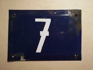 Antique Mexican blue Enamel Porcelain Sign House Number Door Steel Metal Sign 7