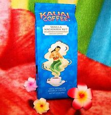 Kauai Coffee Vanilla Macadamia Nut Ground 10oz Hawaiian Estate **BEST BY: 012318