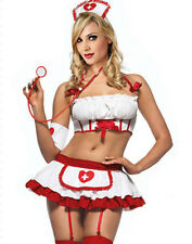 Sexy Women's Doctor Nurse Uniform Costume Lingerie Halloween Cosplay Fancy Dress
