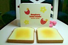 ♡ Mother Garden Strawberry Wooden Bread Toaster Toy   ♡