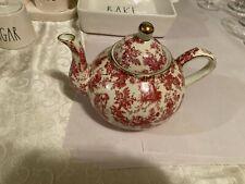 Formalities Chintz Teapot Baum Bros Porcelain Pink/White/Gold EUC