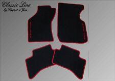Fußmatten für Eclipse D30 Autoteppich Velour Logo Rot