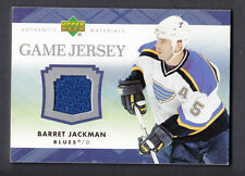 Barret Jackman 2007-08 Upper Deck Game Worn Jersey Card