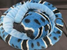 BIG JUMBO BLUE KING RATTLESNAKE BLACK SPOTS RINGS SOFT PLUSH STUFFED ANIMAL TOY