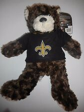 "New Orleans Saints 17"" Plush Teddy Bear Stuffed Animal Toy NFL Licensed NWT"