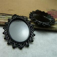 10pcs Diy Antique Alloy Black Plated Cameo Setting (inner 18*25mm) Pendants P410