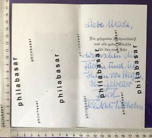 Autograph Hohenzollern Fürst Friedrich Weihnachtskarte an Erzieherin Marie