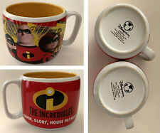 Two Disney The Incredibles Coffee Cups/Soup Mugs - Pixar - 16ozs - Disney Store