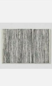 """Project 62 Striped Metallic Woven Wool Blend Accent Rug 24""""x36"""" Gray/Silver/Tan"""
