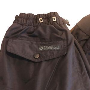 Columbia Men's Small Solid Black Ski Snowboard Nylon Pants