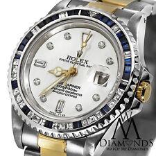 Diamond Rolex Submariner 18K Gold & Stainless Steel Watch Baguette diamond Bezel