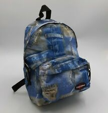 EASTPAK Denim Jeans All Over Print Small Mini BACKPACK Bag Vintage 90s Throwback
