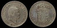 pci1063) Napoli Due Sicilie Ferdinando II piastra 1855 TONED !!!