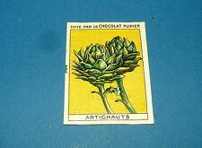 LES LEGUMES ARTICHAUTS CHROMO CHOCOLAT PUPIER JOLIES IMAGES 1930