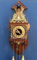 Dutch wall clock Warmink Wuba with German movement Franz Hermle and Sohn