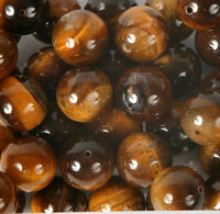Pack of 5 Round 16mm Tiger Eye Beads for Jewellery Making (TIG004L)