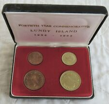 More details for lundy 1965 4 coin proof set - boxed