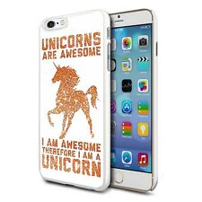 Naranja IMPRESIONANTE Unicornio Diseño Funda Rígida posterior Cubierta De Piel Para Varios Teléfonos
