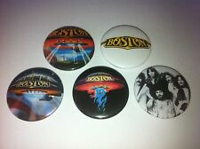 5 Boston Button pin badges 25mm More Than a Feeling Chicago Journey Foreigner