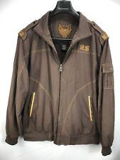 Vintage Al Wissam Men's XL Embroidered Art Sunburst fleece lined  Cloth Jacket