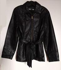 Kenneth Cole Reaction Women Lamb Leather Jacket Black L