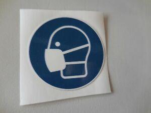 Folie Corona-Schutz rund Logo Händewaschen, Schutzmaske oder Handschuhe tragen