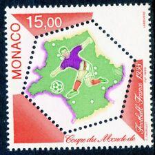 TIMBRE DE MONACO N°  2163 ** COUPE DU MONDE FOOTBALL 1998 EN FRANCE COTE ++ 7 €