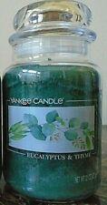 Yankee Candle   Eucalyptus & Thyme  1 Single    22 oz  New Free Shipping