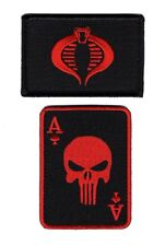 Dead Mans Hand Ace Dead card Cobra Patch Bundle 2pcs Hook Patch