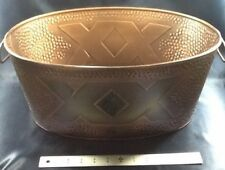 Dos Equis XX Hammered Copper Oval Shaped Limited Edition Ice Bucket with Handles