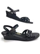 SAS Tripad Comfort Slingback Sandals Women's Size 8M Black Leather EXCELLENT