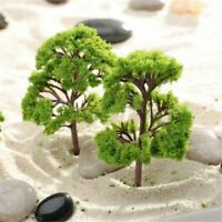 10pcs Model Trees Train Railroad Diorama Wargame Park Scenery HO scale 55mm Mini