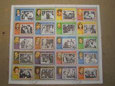 Fujeira - Movie Stars Famous Film Actors, 1972 - Sheet of 20 CTO Dunes