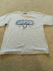 Indianapolis Colts 2006 AFC Conference Champs Shirt Size Youth XL SB XLI Reebok